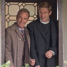 #RobsonGreen and #JamesNorton on the set of #Grantchester 3