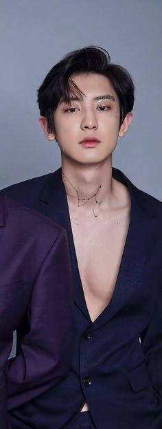 Ughh those glitters and open chest and expression. Chanyeol Cute, Park Chanyeol Exo, Baekhyun Chanyeol, Kpop Exo, Exo Kokobop, Chanbaek, Chansoo, Baekyeol, Shinee
