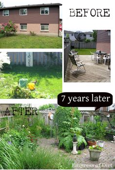 Empress of Dirt: New Garden In Seven Years: Before and After