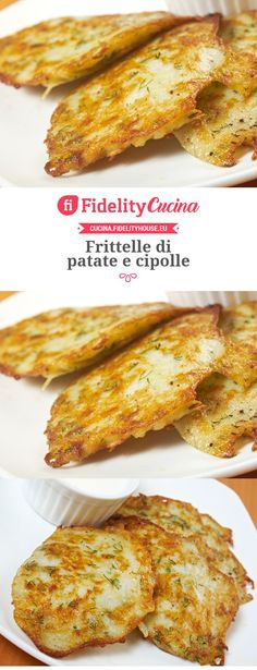 Frittelle di patate e cipolle Veggie Recipes, Vegetarian Recipes, Cooking Recipes, Healthy Recipes, Vegetable Dishes, Creative Food, I Love Food, Soul Food, Food Inspiration