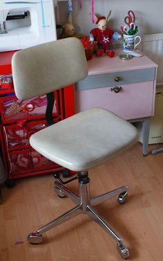 Retro Office, Fabric Storage, Sewing Studio, Be Kind To Yourself, Swivel Chair, Danish, Classic, Furniture, Design