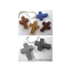 Cubular Beaded Peyote Cross Pattern | Bead-Patterns.com