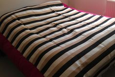 Stripped Pure Wool Blanket (course weave)