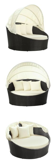 dotandbo.com | Wicker Canopy Day Bed