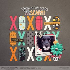 So Cute It's Scary by Mommyish  http://shop.thedigitalpress.co/So-Cute-It-s-Scary-Digital-Kit.html Stitched Down Vol 8 by Laura Passage  http://shop.thedigitalpress.co/Stitched-Down-Volume-8-Templates.html