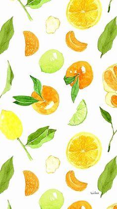 Cute lemon and orange wallpaper Summer Wallpaper, More Wallpaper, Pattern Wallpaper, Wallpaper Backgrounds, Iphone Wallpaper, Lock Screen Wallpaper, Orange Wallpaper, Food Backgrounds, Orange Pattern