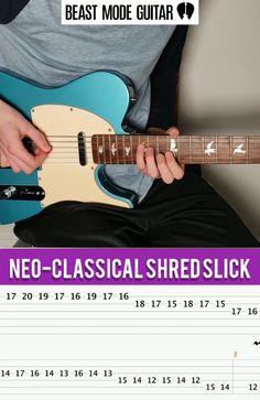 Neo-classical guitar shred lick in the key of A minor. The harmonic minor scales can really create some epic shred patterens! Click for the full guide on how to shred on electric guitar for beginners :) #guitar Music Theory Guitar, Guitar Chords For Songs, Guitar Tabs, Music Guitar, Playing Guitar, Acoustic Guitar, Ukulele, Lead Guitar Lessons, Free Online Guitar Lessons