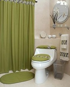 cortinas-elegantes1 Guest Bathrooms, Bathroom Sets, Small Bathroom, Modern Lunch Boxes, Bathroom Images, Interior Decorating, Interior Design, Furniture Covers, Bathroom Curtains