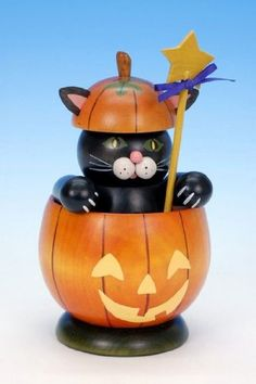 German Incense Smoker Cat with pumpki... $66.10 #bestseller