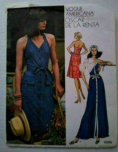 Short Sundress, Halter Sundress, Sundress Pattern, Vogue, Long Shorts, Belt Tying, Fitted Bodice, Ankle Length, Knitted Fabric