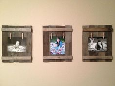 Picture Holders made from old wood pallets. Inspired by itsoverflowing.com Old Wood, Picture Holders, Decor, Shabby Chic Mantel, Work Diy, Wood Pallets, Diy Furniture Accessories, Fireplace Mantels, Mantel Decorations