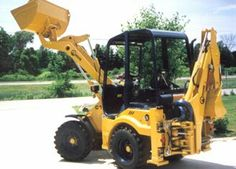 Articulated Backhoe Loader. Definitely the way forward!