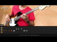 ▶ How To Play Bass Guitar To Satisfaction - Rolling Stones
