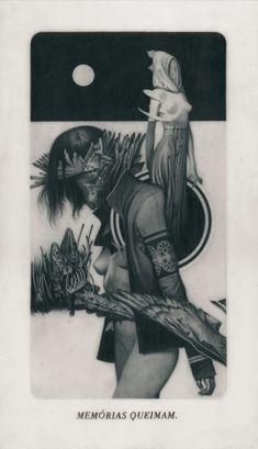 """"""" Le Sacre du Printemps XII – Despair """" Graphite on Paper, Vellum and Acetate 22,4 x 38,1 cm - Feral Kid"""