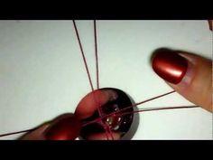 Adding Cord to Lampwork Focal in Kumihimo Braid - YouTube