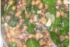 Black Eyed Peas Spinach Stew | Trim Down Club