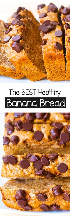 Healthy Banana Bread – NO Oil Required! Healthy Banana Bread – NO Oil Required! Best Healthy Banana Bread Recipe, Vegan Banana Bread, Banana Bread Recipes, Vegan Sweets, Healthy Sweets, Vegan Desserts, Dessert Recipes, Breakfast Snacks, Healthy Breakfast Recipes