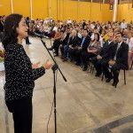 Lucía Corpacci participó de la gran fiesta de los jubilados