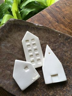 ceramic city magnets inspriation board white set by cravestudio