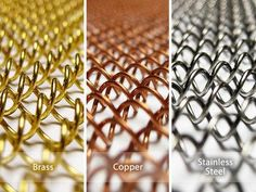 We offer fireplace mesh screens in four finishes and a variety of stock sizes. Custom sizing also available. Metal Fireplace, Fireplace Screens, Copper, Brass, Mesh Screen, Stone Walls, Curtains, Farmhouse Ideas, Steel