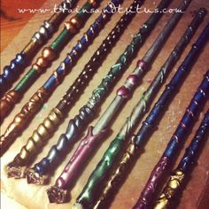 DIY Wand Making! Obsessed with a certain book series and want a wand? This is super cool and easy<<<Well yay
