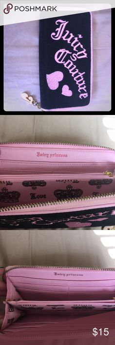 JUICY COUTURE wallet Juicy couture wallet knock off never used black and pink Juicy Couture Bags Wallets