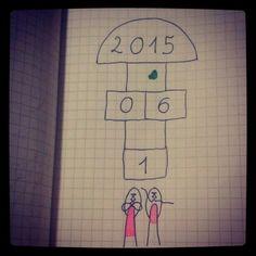 Dzień Dziecka, typodziennik 1.06.2015. Lettering illustration, children's day