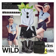 """""""Born To Be Wild"""" by stylemoi-offical ❤ liked on Polyvore featuring See by Chloé, Ray-Ban, rag & bone, Umbra, TIBI, stylemoi and stylemoifashionclub"""