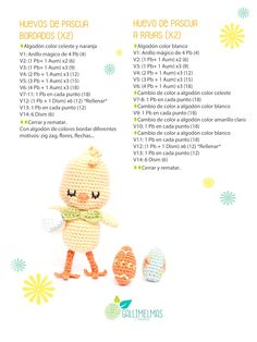 Free Patterns: ¡CAL de primavera con el Pollito Floro y Puntos de Fantasía! | Gallimelmas e Imaginancias Crochet Doll Pattern, Crochet Dolls, Crochet Hats, Chrochet, Learn To Crochet, Amigurumi Patterns, Tatting, Free Pattern, Diy And Crafts