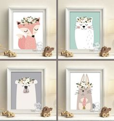Hey, I found this really awesome Etsy listing at https://www.etsy.com/uk/listing/486991853/woodland-animals-nursery-art-prints-set