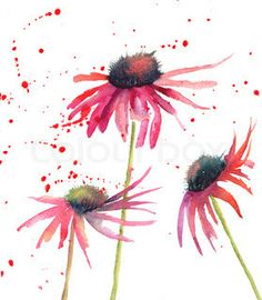 Free art print of Summer flowers, watercolor flowers. Get up to 10 Gallery-Quality Art Prints for Free. Simple Watercolor Flowers, Easy Watercolor, Watercolor Cards, Watercolor Illustration, Watercolour Painting, Floral Watercolor, Painting & Drawing, Watercolor Images, Watercolor Trees