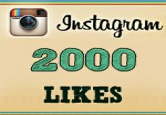 Great Offer!!! 2000+ Instagram Likes Instantly  for $1