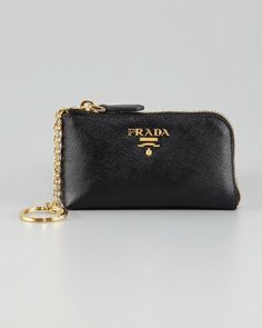 prada bags com - Black Saffiano Chain Crossbody Wallet | Prada, Wallets and Chains