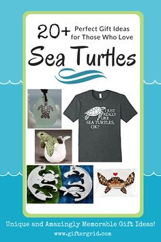Perfect gift ideas for those that love sea turtles! Gift ideas include DIY and craft ideas for sea turtle themed gifts, unique gift ideas, gifts of experiences and related charitable gifts as well! Take a look at these gift ideas on Gifter Grid - the purpose of our page is to help inspire unique and amazingly memorable gift ideas based on people's interests and hobbies!