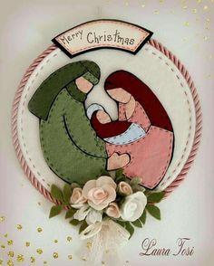 Diy Christmas Felt Ornaments Navidad Ideas For 2019 Felt Christmas Decorations, Felt Christmas Ornaments, Christmas Nativity, Christmas Art, Christmas Projects, Handmade Christmas, Christmas Holidays, Christmas Images, Christmas 2017