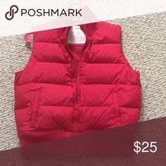 Ski Vest Red old Navy Ski Vest. Very cute and comfortable. Pair it with your favorite jeans and a flannel on a cool fall night Old Navy Jackets & Coats Puffers
