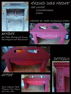 DIY Pinspiration: End Table turned Raised Dog Feeder