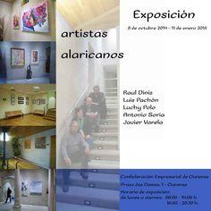 Artistas alaricanos en Confederación Empresarial de Ourense, Ourense expo exposición Raul Diniz, Luis Pachón, Luchy Polo, Antonio Soria, Javier Varela