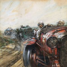 Frederick Gordon Crosby - Le Mans 24 Hour Race: Earl Howe and Tim Birkin in their victorious 8-c Alfa Romeo (1931)