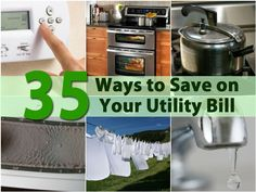 35 ways to save on your utility bill