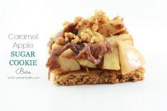Caramel Apple Sugar Cookie Bars