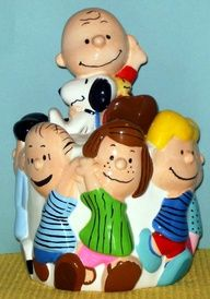 PEANUTS CHARLIE BROWN cookie jar -my brother Robbie got this for me!! Thank you, ROBBIE ....I love you! ~Sis