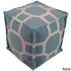 @Overstock.com - Delphi Pouf - This geometric indoor pouf helps you relax after a long day. At 16 inches by 16 inches, it is large enough to sit on but small enough to store. It is made of durable wool, and its color motif makes it easy to match with other accessories.  http://www.overstock.com/Home-Garden/Delphi-Pouf/8274697/product.html?CID=214117 $122.99