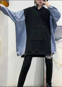 Ropa Upcycling, Moda Outfits, Altered Couture, Creation Couture, Casual Tops For Women, Denim Outfit, Diy Clothes, Black Clothes, Plus Size Tops