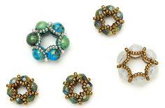 Join Julia Gerlach for this Beaded-bead-mini-class Beaded Beads, Beaded Jewelry, Beaded Bracelets, Necklaces, Jewelry Making Beads, Jewelry Art, Jewelry Design, Jewelry Ideas, Diy Jewellery