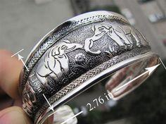 EXQUISITE TIBETAN TIBET SILVER TOTEM BANGLE CUFF BRACELET ( ELEPHANT ) 4 #Unbranded #Bangle