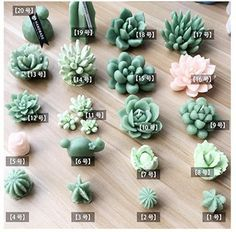Succulent Mold – Plant Silicone Fondant Mold – Succulent Candle – Succulent Plant Mold – Succulent Fondant Mold – Succulent Soap – Best Garden Plants And Planting Cute Polymer Clay, Cute Clay, Polymer Clay Flowers, Polymer Clay Miniatures, Polymer Clay Charms, Diy Clay, Clay Crafts, Polymer Clay Jewelry, Polymer Clay Projects