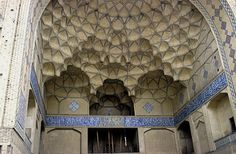 Persian Stalactite Vaulting, Jame Mosque in Esfahan, Iran