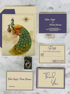 If you're looking to get a little more hands-on with your wedding stationery, then this is the page for you. We have plenty of wedding invitations, place cards, and table number holders to suit your wedding perfectly. Peacock Wedding Invitations, Wedding Invitations Online, Wedding Invitation Cards, Wedding Stationery, Wedding Wording, Indian Wedding Cards, Wedding Card Design, Unique Weddings, Place Cards