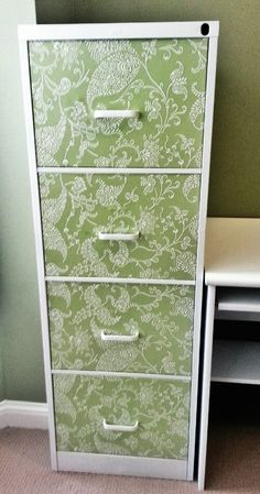 How to paint a file cabinet, this was one of the easiest things I have ever done! Easy way to give your office a makeover for cheap!